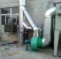 天津西堤头焊接排烟管道案例